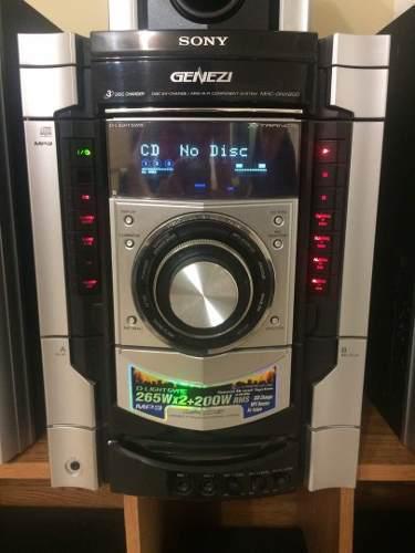 Equipo de sonido sony genezi mhc-gnx 8000w