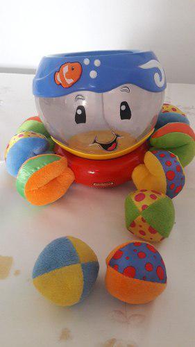 Juguete de bebe pulpo y pelotas