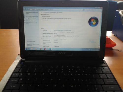 Mini laptop acer aspire one d257 para reparar o repuesto