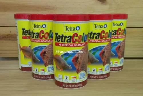 Alimento comida peces tetra color xl tropical granules 300gr