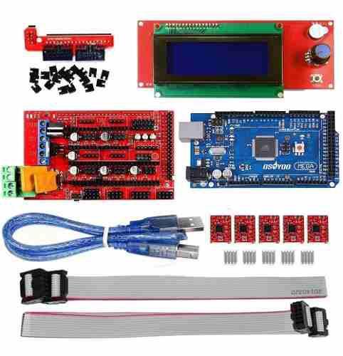 Impresora 3d kit drivers procesador pantalla lcd arduino