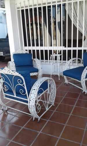 Juego sillas en hierro forjado
