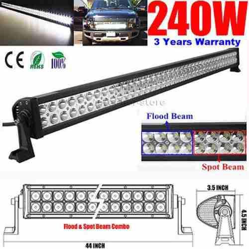Barra led 42 pulgadas recta 240w 80 led led light bar