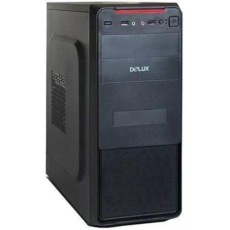 Case para pc atx delux con fuente de poder 550w mt377 ccc