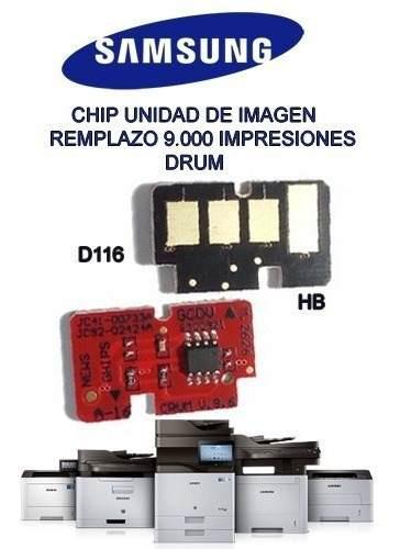 Chip unidad de imagen reset samsung 116 (9)k paginas