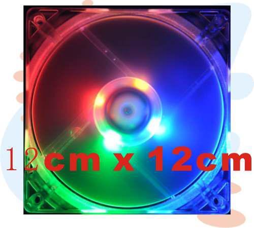 Fan cooler ventilador case pc transparente luce 12cm 4pines