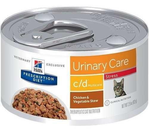 Lata para gatos control urinario cd hill`s 82 gr. feline c/d
