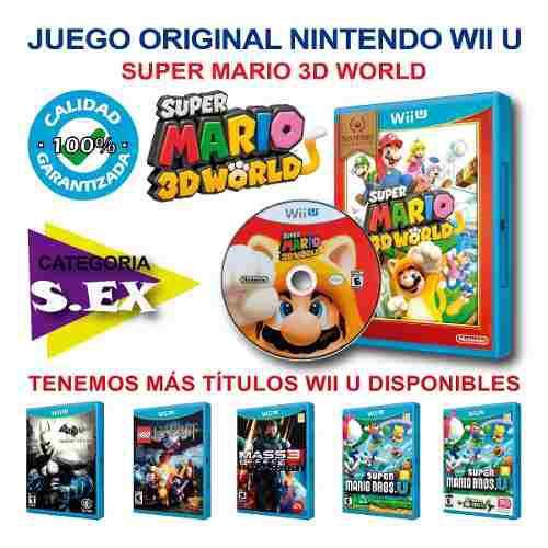 Mario 3d world y mas juegos originales nintendo wii u