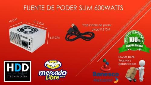 Oferta! fuente de poder slim 600watts nueva chacaito