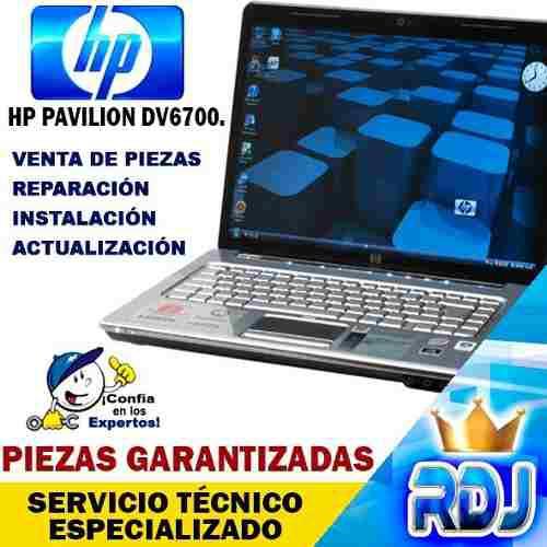 Laptop hp pavilion dv6700 (instalación, reparación y
