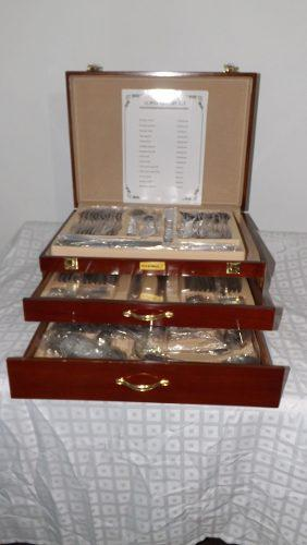 Juego cubiertos 12 pax 113 piezas acero inoxidable illusions