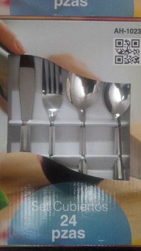 Juego cubiertos acero inoxidable 24 piezas