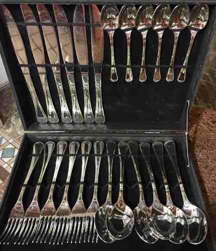 Juego de cubiertos de acero inoxidable 24 piezas