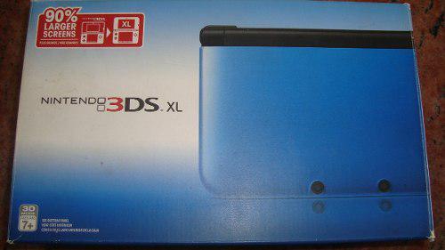 Nintendo 3ds xl azul/negro, 90% mas largo que lo normal