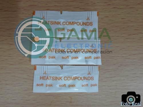 Pack sobre pasta térmica blanca p/procesador (15 unidades)