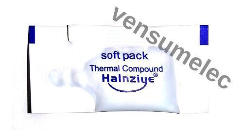 Pasta térmica en sobre monodosis halnziye, gris, 3 piezas