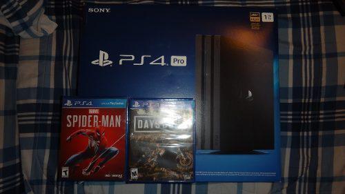 Playstation 4 pro 1tb nuevo y sellado + 2 juegos originales