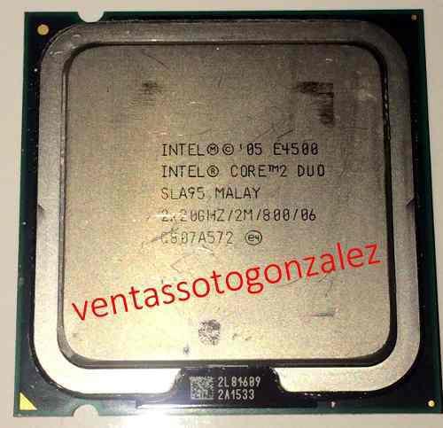 Procesador intel® core2 duo e4500 2m cache/2.20ghz/800 mhz
