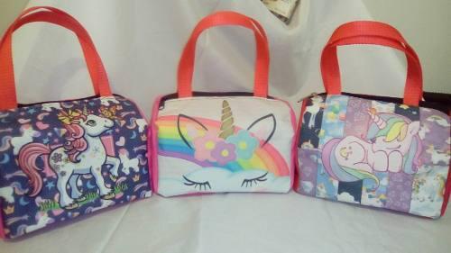 Carteras para niñas minie, unicornio, lol, peppa, princesas