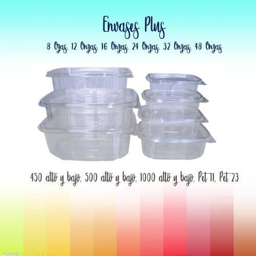 Envases transparentes plus, altos y bajos 80, 120, 160, 240