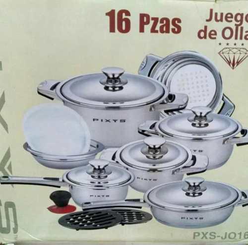 Usado, JUEGOS DE OLLAS PIXYS DE 16 PIEZAS segunda mano  Iribarren (Lara)