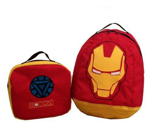 Morrales bolsos luncheras escolares para niños vengadores