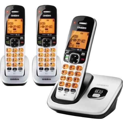 Telefono inalambrico uniden d1760 con 2 extensiones dcx170