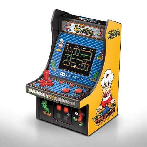 Consola mini video juegos burguer
