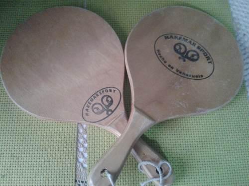 Raquetas de playas / madera profesional