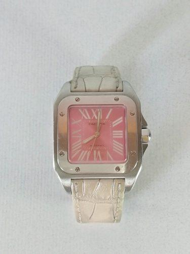 Reloj cartier santos 100. certificado original edic especial