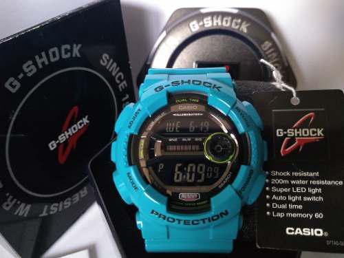 Reloj original casio® g shock blue iluminator 200 mts nuevo