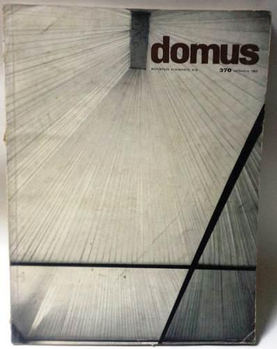 Revista vintage arquitectura y diseño domus septiembre 1960