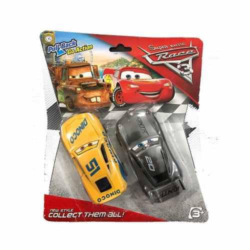 2 juego de 2 carros cars set carritos juguete rayo mcqueen
