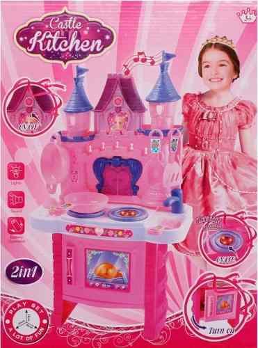 Cocinita kitchen niñas set juguete cocina castillo