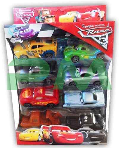Juego de 8 carros cars set carritos juguete rayo mcqueen