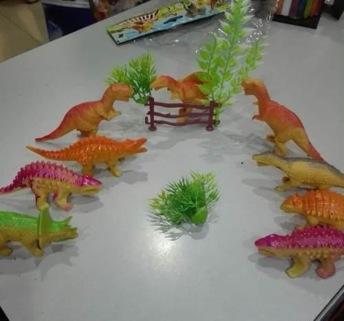 Juguete dinosaurios niños set 12 piezas 9cm, detal y mayor