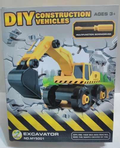 Juguetes didácticos armables excavadora de construcción.