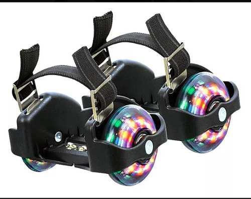 Patines dos ruedas para zapatos de luces nuevos