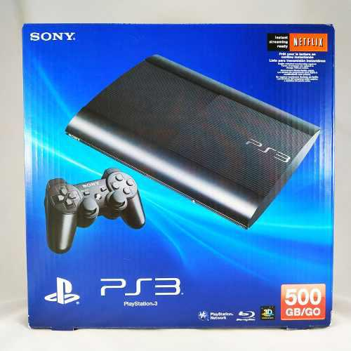 Play station 3 500gb + 1 control + 3 juegos