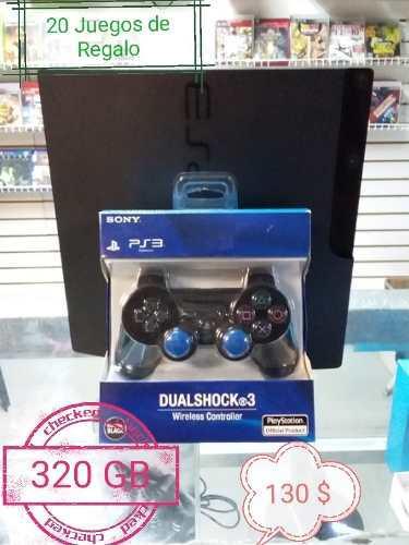 Playstation 3 slim 320gb 20 juegos.