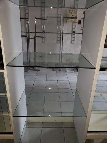Vitrina Exhibidora Formica Y Vidrio Templado Grueso