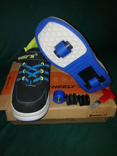 Zapatos patines wheelys rollershoes talla 38