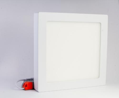 Lampara led 18w superficial. luz blanca cuadrada
