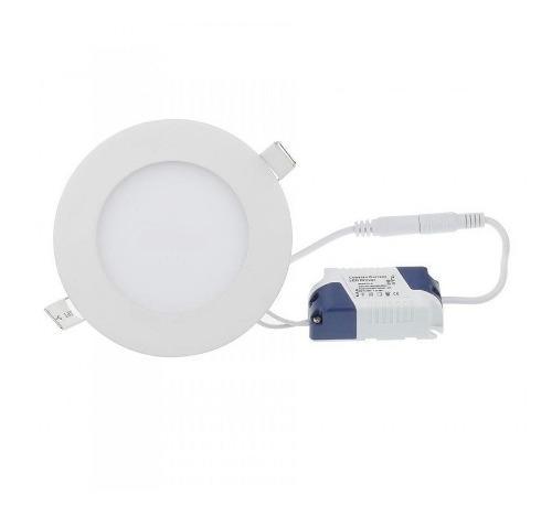Lampara led panel 6w redonda empotrar luz blanca