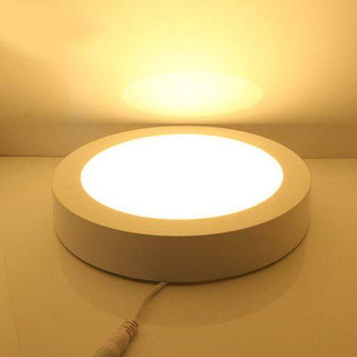 Lampara led panel sobreponer o superficial 12w luz cálida