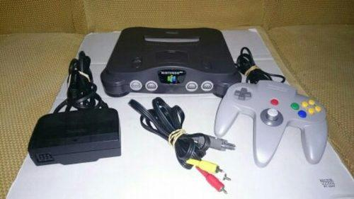 Nintendo 64 + 1 control + pokemon stadium 1 y 2 + dk 64
