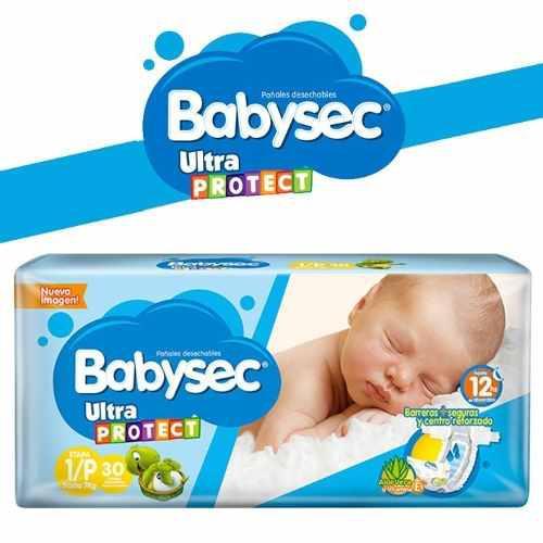 Pañales babysec baby sec ultraprotect etapa 1/p x 30 und