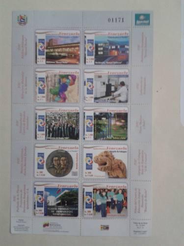 Filatelia venezolana ivic ciencia 10 sellos hoja(10 est)2007