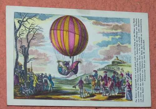 Globo postal vuelo a globo día de la aviación de viena