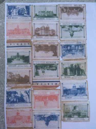 Mini postales de coleccion de estados unidos1857